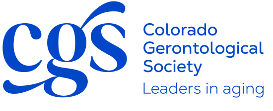 Colorado Gerontological Society logo, leaders in aging